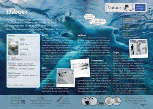 informatieve placemat wildlands ijsbeer