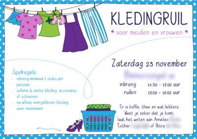 uitnodiging kledingruil