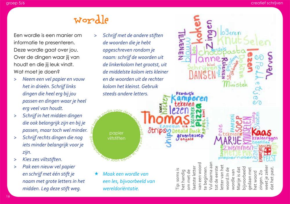 creatief keuzewerk creatief schrijven