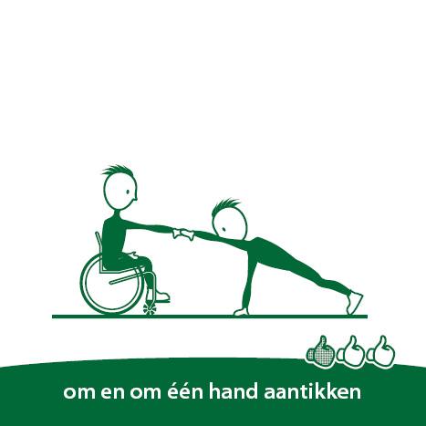 beweegroute samen rolstoel
